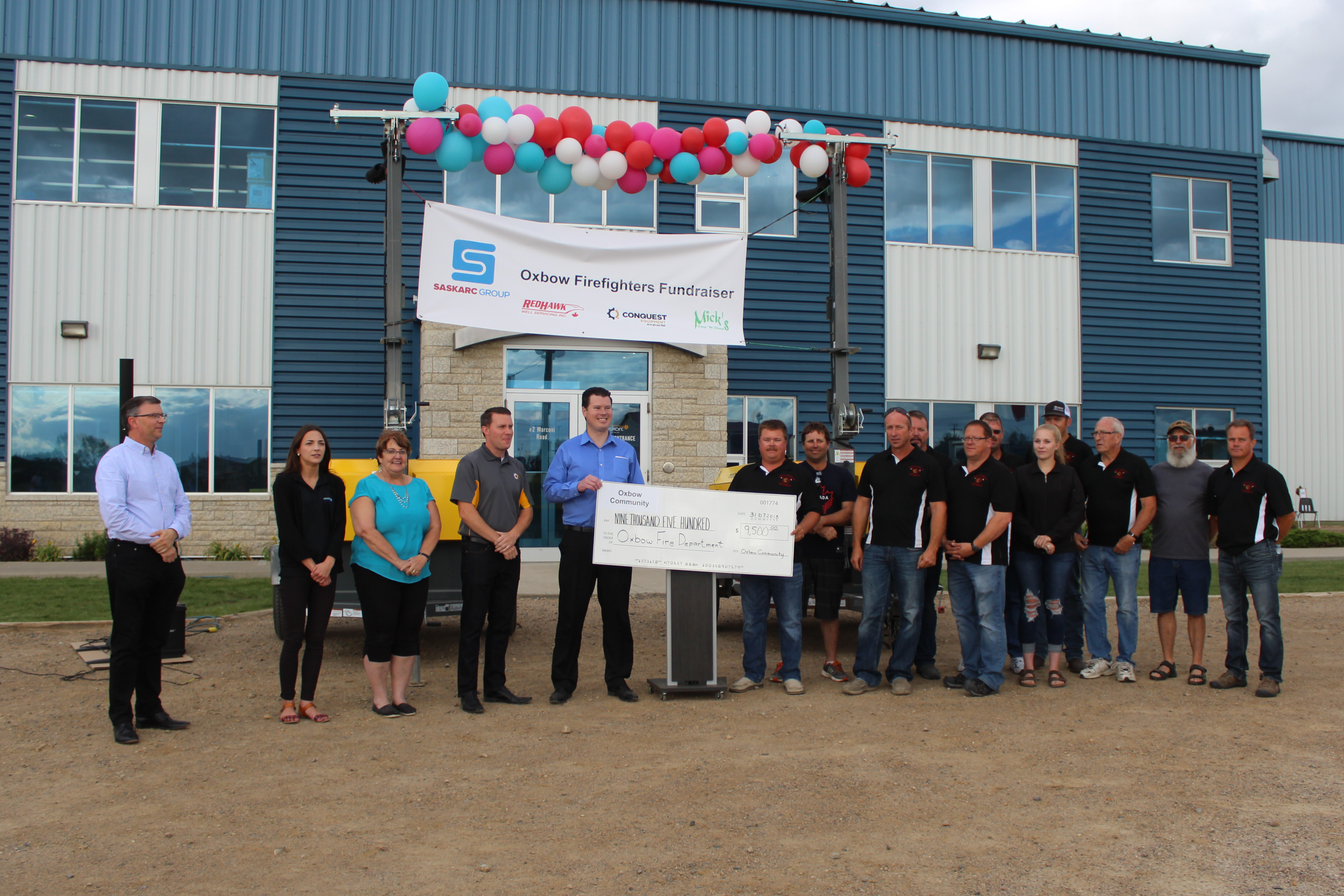 Axiom Equipment Group donation on Fire Donation