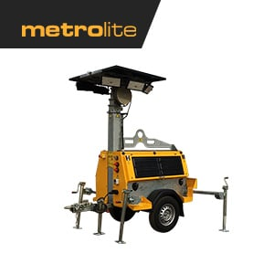 Metrolite LED light tower, solar light tower, diesel light tower, hybrid light tower, jobsite light tower, construction site light tower, industrial light tower canada