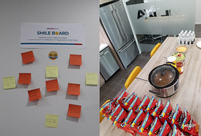 Axiom Smile Board and Taco Tuesday